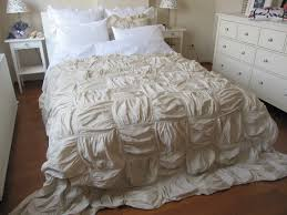 square ruched bedding duvet cover full queen king custom