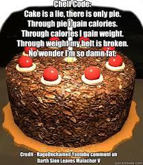 Cake Is A Lie Meme - 91f2c15563fe63ff8bf07765f554c91e96422bde26f39e4a72baf9868fc8acbd jpg