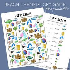 beach themed i spy game free printable for kids spy games