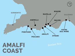 Map Of Amalfi Coast Italy by How To Get From Naples To Positano And The Amalfi Coast