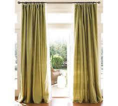 Dupioni Silk Drapes Discount Letting The Light In Through Sage Dupioni Silk Drapes From Pottery
