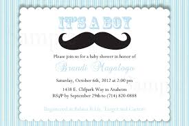 Baby Shower Invitation Card How To Create Mustache Baby Shower Invitations Free Templates
