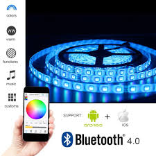 amazon com solarphy 32 8ft 10m rgb led strip light bluetooth