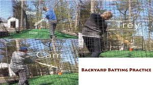 backyard batting cage hitting youtube