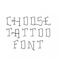 traditional old tattoo font generator