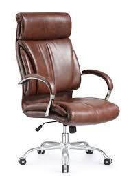 Leather Office Chair Ergonomic Style And Vintage High Back Leather Office Chair Brown