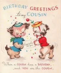 cousin birthday card birthday greetings cousin card more vintage wishes messages for