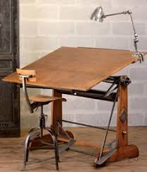 Vintage Drafting Table Iron Wood Dining Table Industrial Vintage Antique Metal Country