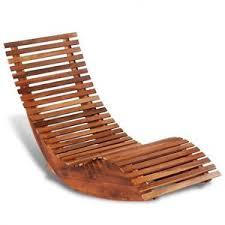Garden Rocking Chair Uk Wooden Sun Lounger Modern Outdoor Furniture Patio Garden Rocking