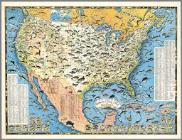 map of the united states sportsmen s fishing map of the united states and neighboring