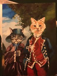 on a whim i paid my girlfriend to paint my sister u0027s cats for her