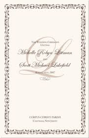 wedding ceremony program covers catholic mass wedding ceremony catholic wedding traditions celtic
