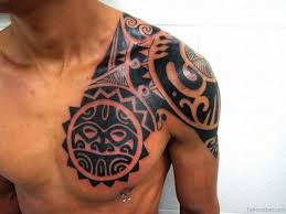 maori shoulder 50 glorious chest tattoos for men