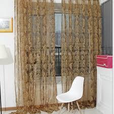 noble window screens tulle bronzing flower door curtain cofee