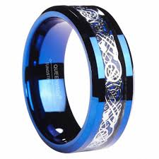 blue man rings images Queenwish designed with you in mind this patterned tungsten ring jpg