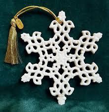 lenox 2005 snow fantasies snowflake ornament new in box 50 36