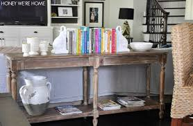 back of couch table home fashion camouflaging the sofa back with a console table of