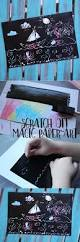 scratch off magic paper art is an easy and fun craft for kids of