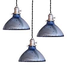 mercury glass pendant light jeffreypeak Blue Glass Pendant Light