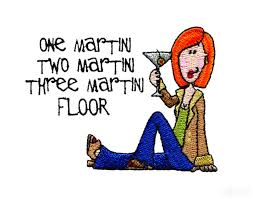 cartoon martini one martini two martini embroidery design
