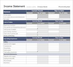 Year To Date Profit And Loss Statement Free Template by Sle Income Statement Template 11 Free Documents In Pdf Word