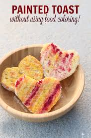 rainbow toast without food coloring happily ever mom