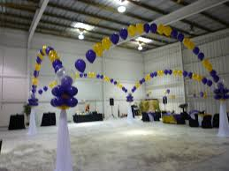 balloon and drape for dance floor decor quinceanera balloon