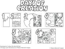 7 days creation coloring pages free for kindergarten 6th day of