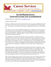Samples Of Achievements On Resumes by Listing Accomplishments On A Resume Samples Of Resumes