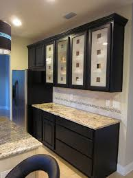 Kitchen Cabinets With Frosted Glass Dark Kitchen Cabinets With Glass Doors U2013 Quicua Com