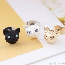 cool ear studs cat earrings animal accessories kitten earring