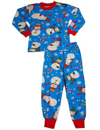 s prints baby boys sleeve snowman pajamas blue