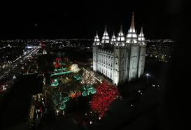 temple square lights 2017 schedule thousands gather downtown for temple square lighting ceremony ksl com