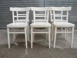 Vintage Bistro Chairs Vintage White Bistro Chairs Set Of 6 For Sale At Pamono
