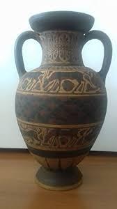 vasi etruschi vaso anfora riproduzione etrusca con decorazioni animali cm33x20