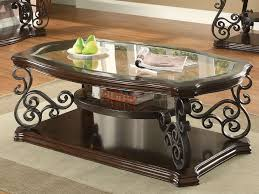 Traditional Living Room Tables Angus Metal Scroll And Wood Coffee Table 702448 Seaboard Bedding