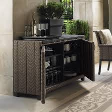 Tommy Bahama Patio Furniture Clearance by Tommy Bahama Blue Olive Wicker Patio Buffet Table W Weatherstone