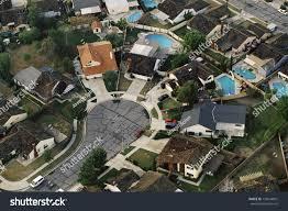 aerial view suburban culdesac orange county stock photo 139244861