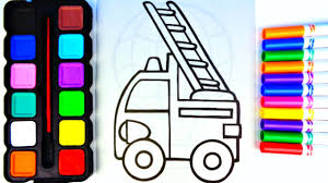 coloring pages firetruck l red l fire engine drawing pages to