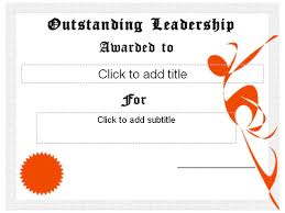 certificate free templates outstanding leadership award certificate free certificate