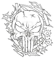 military outline skull tattoo design in 2017 real photo pictures
