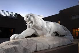 mountain lion statue mini mountain lion graces gallogly uccs communique