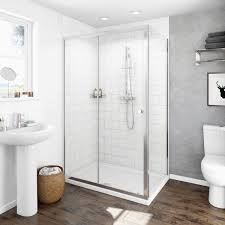 Shower Tray And Door by Clarity 4mm Sliding Door Shower Enclosure Victoriaplum Com