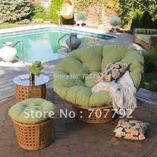 Pink Papasan Cushion by All Weather Wicker Outdoor Papasan Chair Set In Garden Sofas From