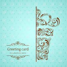 Greeting Card Designs Free Download Turquoise Vintage Greeting Card Template With Ornamental Gift Box