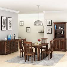 modern rustic solid wood rectangle 9 piece dining room set