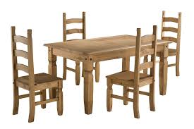 pine dining room set 5pcs dining table set pine wood kitchen dinette with 4 and chairs