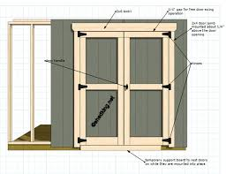 How To Build A Shed Plans For Free by Double Shed Doors