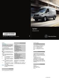 2015 mercedes benz sprinter operators manual headlamp anti