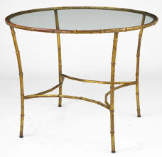 round gilt metal bamboo dining table dining table design ideas